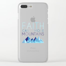 MOUNTAINS Clear iPhone Case