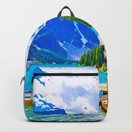 Lake in switzerland Backpack