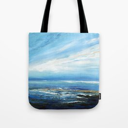 Italianmarinepainter: seascape for my first scarf , landscape , vision of sea, my abstract seascape Tote Bag