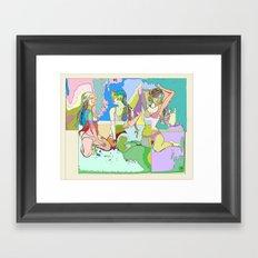 The Clique I Framed Art Print