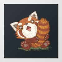 red panda Canvas Prints featuring Panda by Toru Sanogawa