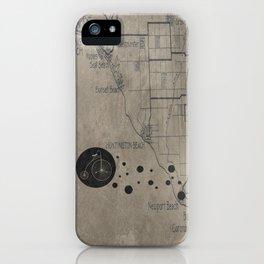 Bike Map iPhone Case
