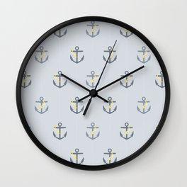 Stormy Nautical Pattern 1 Wall Clock
