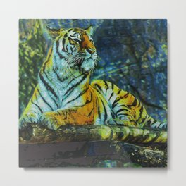 Stripes With Claws II Metal Print