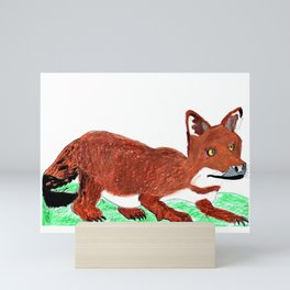 Crouching Dhole Mini Art Print