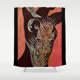 Liquid Gold of Night Shower Curtain
