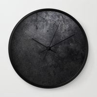 concrete Wall Clocks featuring CONCRETE by Danielle Fedorshik