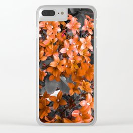 Red flowe Clear iPhone Case