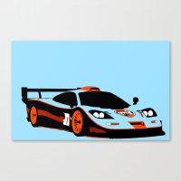 f1 Canvas Prints featuring F1 GTR by Arch Duke Maxyenko