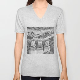 Icelandic foxes Unisex V-Neck
