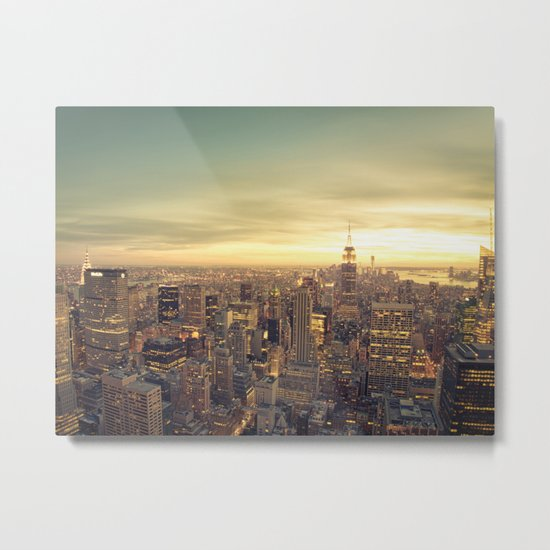New York Skyline Cityscape Metal Print