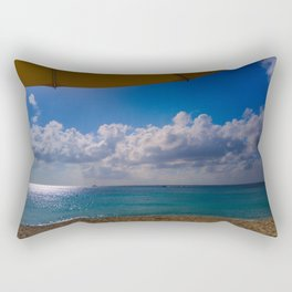 Seaside Under Umbrellas Rectangular Pillow