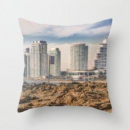 Mansa Beach, Punta del Este, Uruguay Throw Pillow