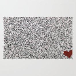 Little Red Heart art Rug