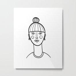 Simple Portrait Metal Print