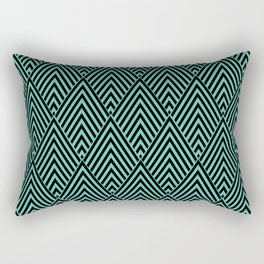 Triangle in Diamonds. Rectangular Pillow