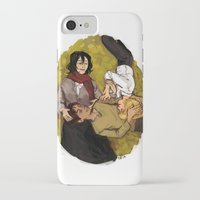 attack on titan iPhone & iPod Cases featuring A Nap on Titan by crowry
