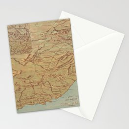 Vintage Map of South Africa (1899) Stationery Cards