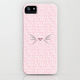 Crazy Cat Lady (Meow Meow Meow Pattern) iPhone Case