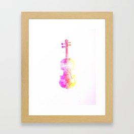 Pink Fiddle Framed Art Print