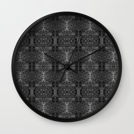 zakiaz blk&gray abstract design Wall Clock