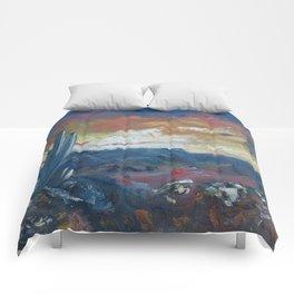 Stormy Evening Over Arizona Comforters