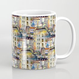 Gamla Stan Old City Stockholm Sweden Architectural Watercolor Landscape Coffee Mug
