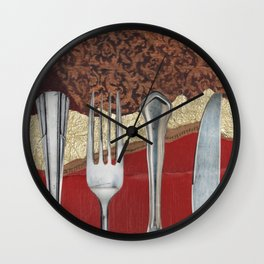 Silver & Gold Wall Clock