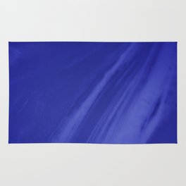 Blurred Royal Blue Wave Trajectory Rug