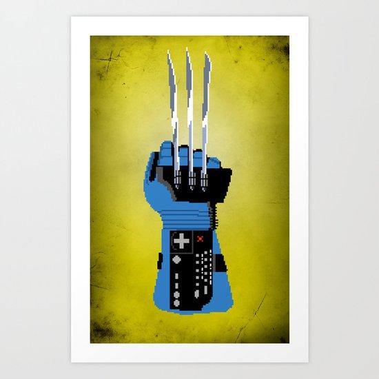 Power Glove Love: Wolverine Art Print