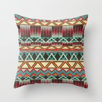 native Throw Pillows featuring Native. by Digi Treats 2