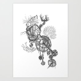 Steampunk home Art Print