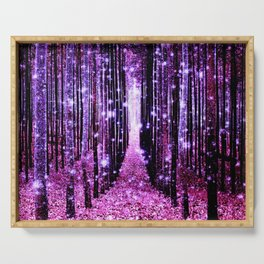Magical Forest Pink & Purple Serving Tray
