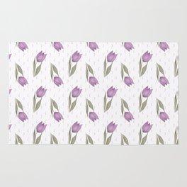 Lilac tulips Rug