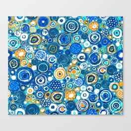 Lost Marbles - Blue Canvas Print