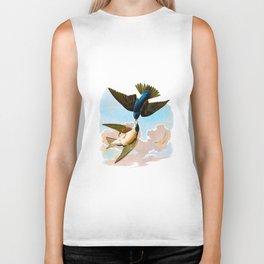 White-bellied Swallow Bird Biker Tank