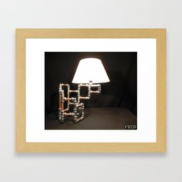 Articulated Desk Lamps - Copper and Chrome Collection - FredPereiraStudios_Page_14 Framed Art Print