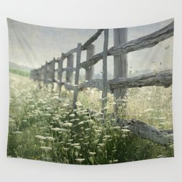 Rustic Fence Wall Tapestry