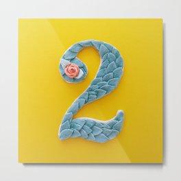 2 – Flower Type Letter Metal Print