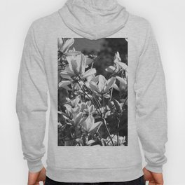 Black And White Flowers In The Sun Hoody