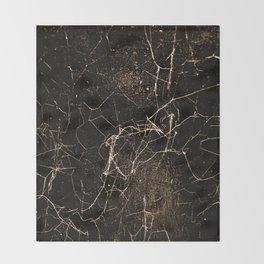 Spider Web Print Grunge Dark Texture Throw Blanket