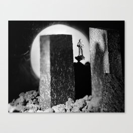 Spaceman Sees His Ghost Canvas Print