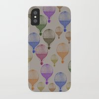 hot air balloons iPhone & iPod Cases featuring Colorful Hot Air Balloons by Zen and Chic
