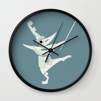 soul eater Wall Clocks featuring fools! excalibur soul eater by Rebecca McGoran