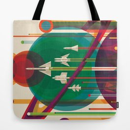 NASA Retro Space Travel Poster The Grand Tour Tote Bag