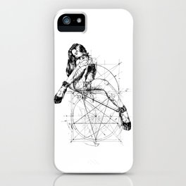 Samael Lilith and the Golden ratio iPhone Case