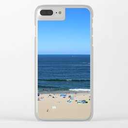 Blue Sky at Virginia Beach Clear iPhone Case