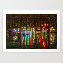 Glasgow HDR Art Print