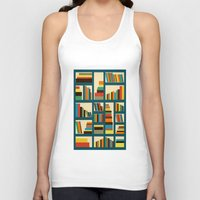 library Tank Tops featuring library by vitamin