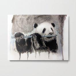 flute panda Metal Print